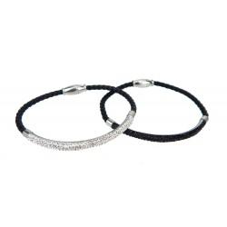 Strass Armband silber oder schwarz Magnetverschluss