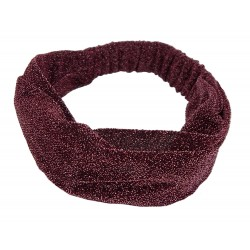 Glitzer Haarband rot rose pink