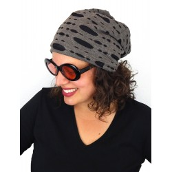 Long Beanie Slouch Destroyed Vintage Look 4 Farben Unisex