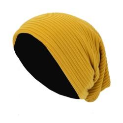 Long Beanie gelb blau schwarz türkis Unisex