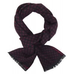 Eleganter Herrenschal schwarz/rot oder blau/grau Winter
