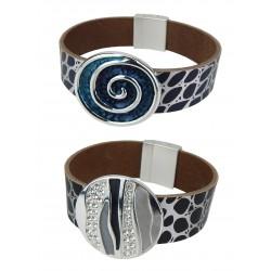 Armband silber schwarz oder silber blau Schmuckstein