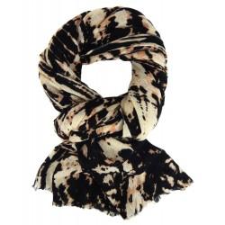 Schal beige schwarz Herbst Winter