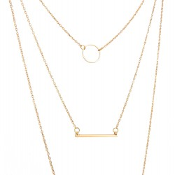 Halskette gold urban Triple Pendant
