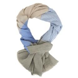 Herrenschal blau oder grün Baumwolle