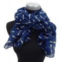 Damenschal mit Libellen Motiv blau by Ella Jonte