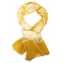 Breiter Damenschal gelb Batik Ibiza Style