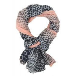 Damenschal Animalprint rosa schwarz grau oder gelb Leopard Schal