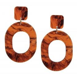 Trend Ohrringe in Schildplatt Optik große Ohrstecker