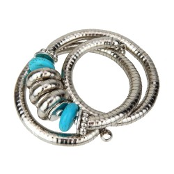 Armband silber türkis Boho Ibiza Style