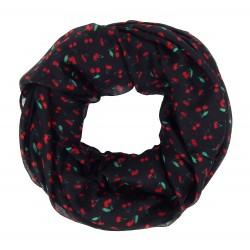Rockabilly-Loop schwarz rot Kirschen by Ella Jonte