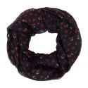 Breiter Rockabilly Loop schwarz rot Kirsche