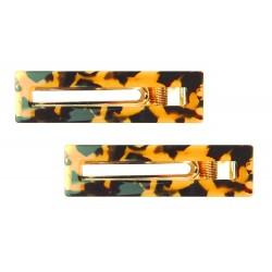 Haarspangen Set 2 X Haarclip braun schwarz Schildpatt Optik
