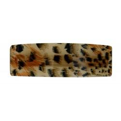 Haarspange beige braun schwarz Animalprint Leopard