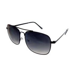 Damen Herren Sonnenbrille schwarz grau Retro