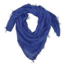 Tuch blau Dreiecktuch mit Fransen Schal Damenschal