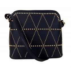 Tasche schwarz gold Nieten Handtasche