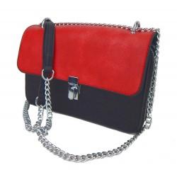 Kleine Tasche schwarz rot Handtasche Schultertasche