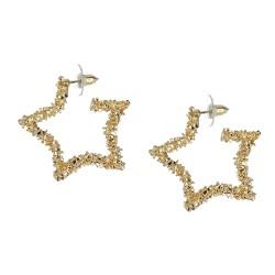 Ohrringe Stern gold Ohrstecker funkelnde Sterne
