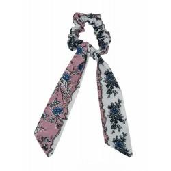Scrunchie Haargummi mit Band Bändern viele Farben Haarband