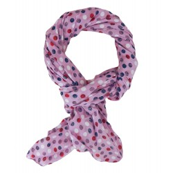Kinderschal Mädchen Schal Pink bunt Punkte
