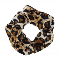 Leopard Scrunchie Haargummi braun beige oder schwarz weiß