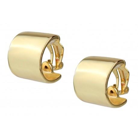 Ohrclips Halbcreolen gold oder silber