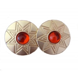 Ohrclips gold grün oder gold rot Ibiza Boho Style Ohrringe