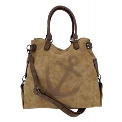 Tasche braun Anker XXL Shopper maritime Handtasche