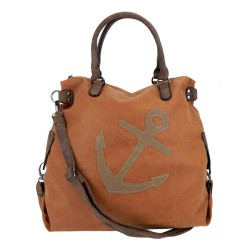 Tasche braun cognac Anker XXL Shopper maritime Damen Handtasche