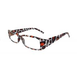 Damen Lesebrille Leopard weiß orange schwarz + 1,0 - + 2,5 dpt