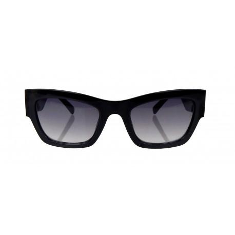 Damen Sonnenbrille schwarz oder grün gold Gläser rechteckig