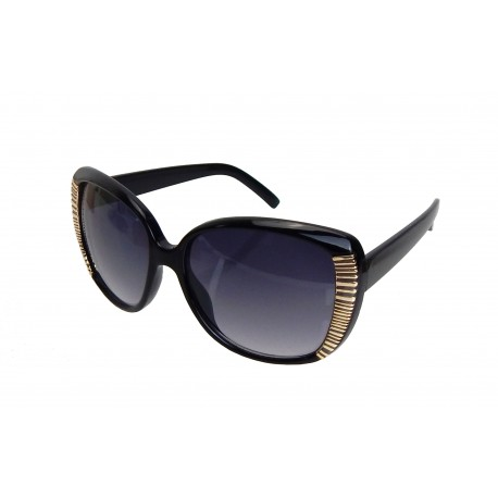 Damen Sonnenbrille schwarz braun rot blau oder beige große Gläser