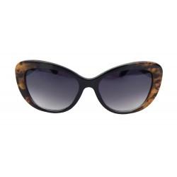 Damen Sonnenbrille Schildpatt Optik braun schwarz blau grün oder lila