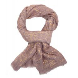 Damenschal rosa gold breiter leichter Schal dunkles Rosa