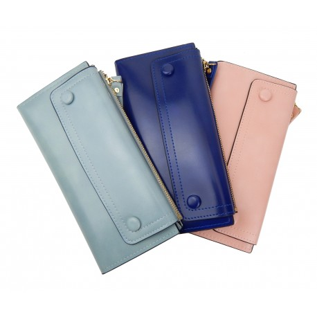 Damen Geldbörse 3 Farben Rosa Blau oder Mintgrün Grün Portemonnaie