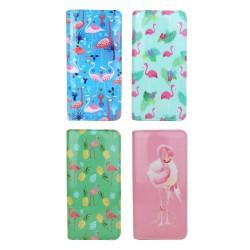 Flamingo Geldbörse rosa grün blau oder türkis Portemonnaie Portmonee