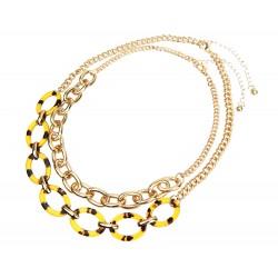 Gliederkette Halskette gold Statement leichte Trend Kette Collier