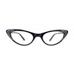 Lesebrille Cat Eye schwarz oder braun Rockabilly Retro +1,0 dpt