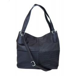 Handtasche schwarz oder rot Damen Tasche Shopper Kunstleder