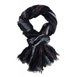 Herrenschal Schwarz Blau Rot oder Grau Viskose Streifen Herren Schal