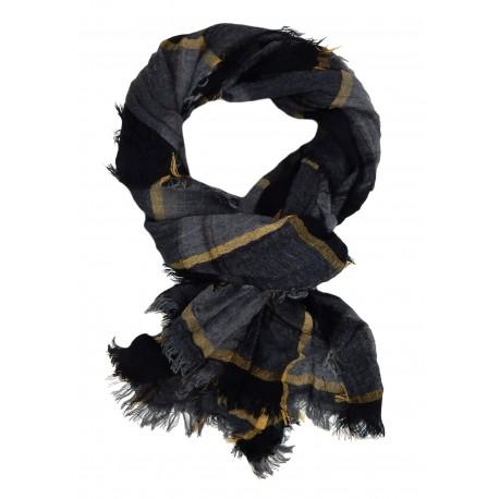 Herrenschal schwarz grau oder blau edler weicher Herren Schal Viskose