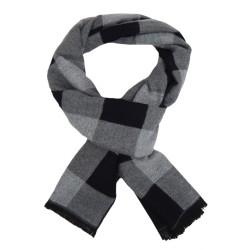 Schmaler Herrenschal rot blau oder schwarz grau Herbst Winterschal Wolle